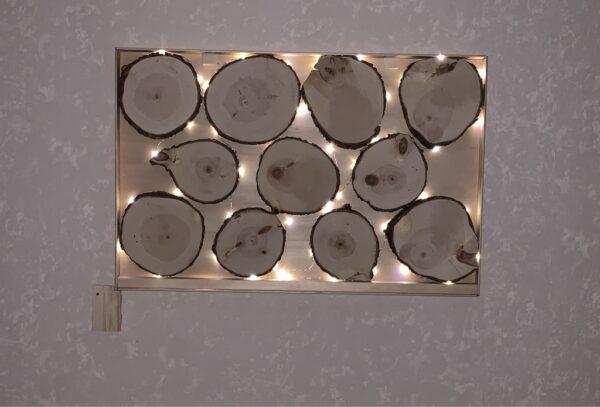 Baumscheiben mit LED-Licht