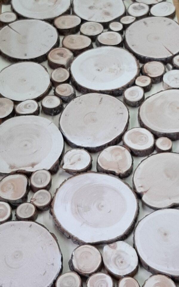 100 Zirbenholz-Baumscheiben