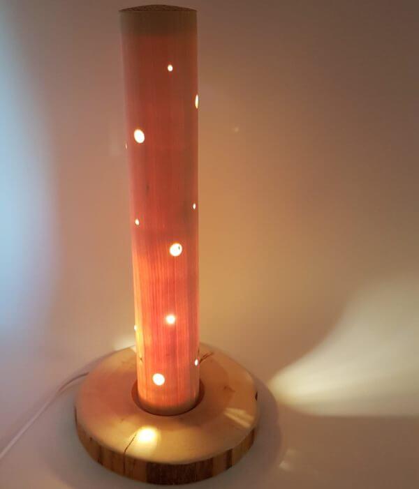 Zirbenholzlampe