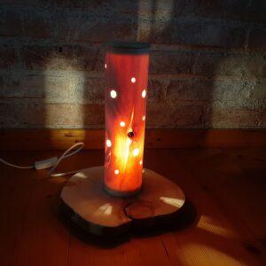 Zirbenholz-Lampe