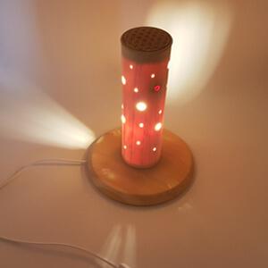 Edle Zirbenholzlampe
