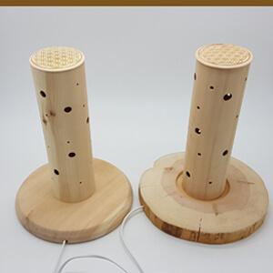 Lampe aus Zirbenholz