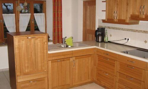 Holzküche aus Kirschbaum