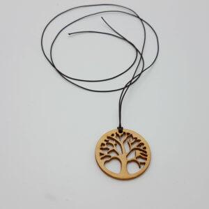 Zirbenkette rund mit Baum des Lebens