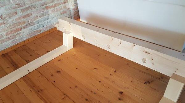 Zirbenholz Bett Leimfrei und ohne Metall