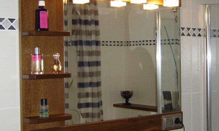 Badspiegel Eiche geräuchert