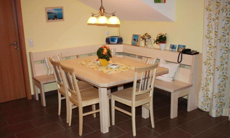 Eckbank Tisch und Stühle aus Ahorn