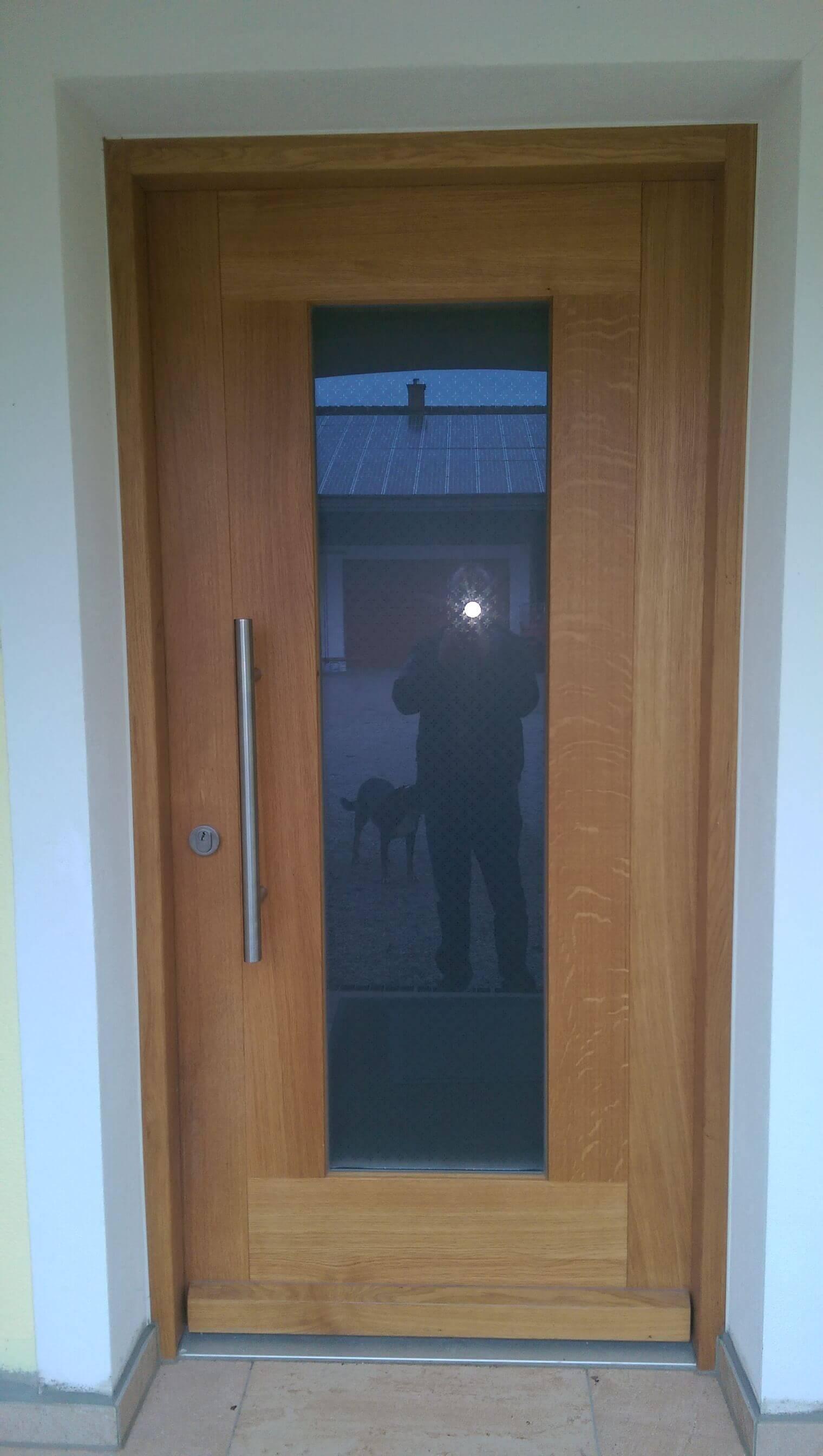 Holz Haustür mit Glas