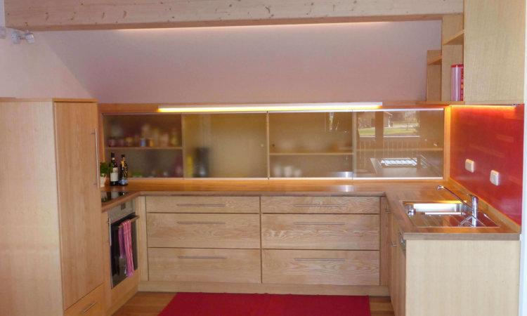 Küche Esche ohne Kern