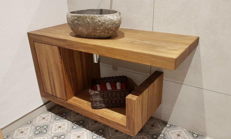 WC-Möbel Eiche