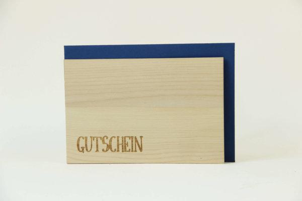 Zirbenholzkarte Gutschein