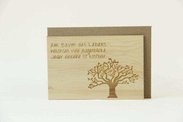 Zirbenholzkarte. Baum des Lebens
