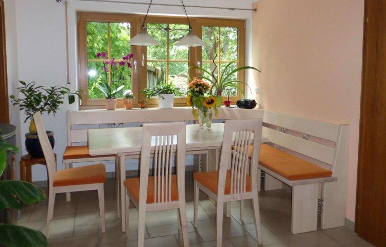 Eckbank Tisch und Stühle Ahorn