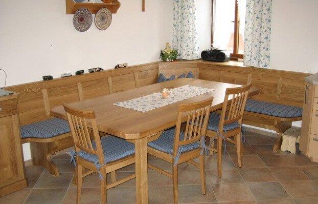 Eiche Eckbank Tisch und Stühle
