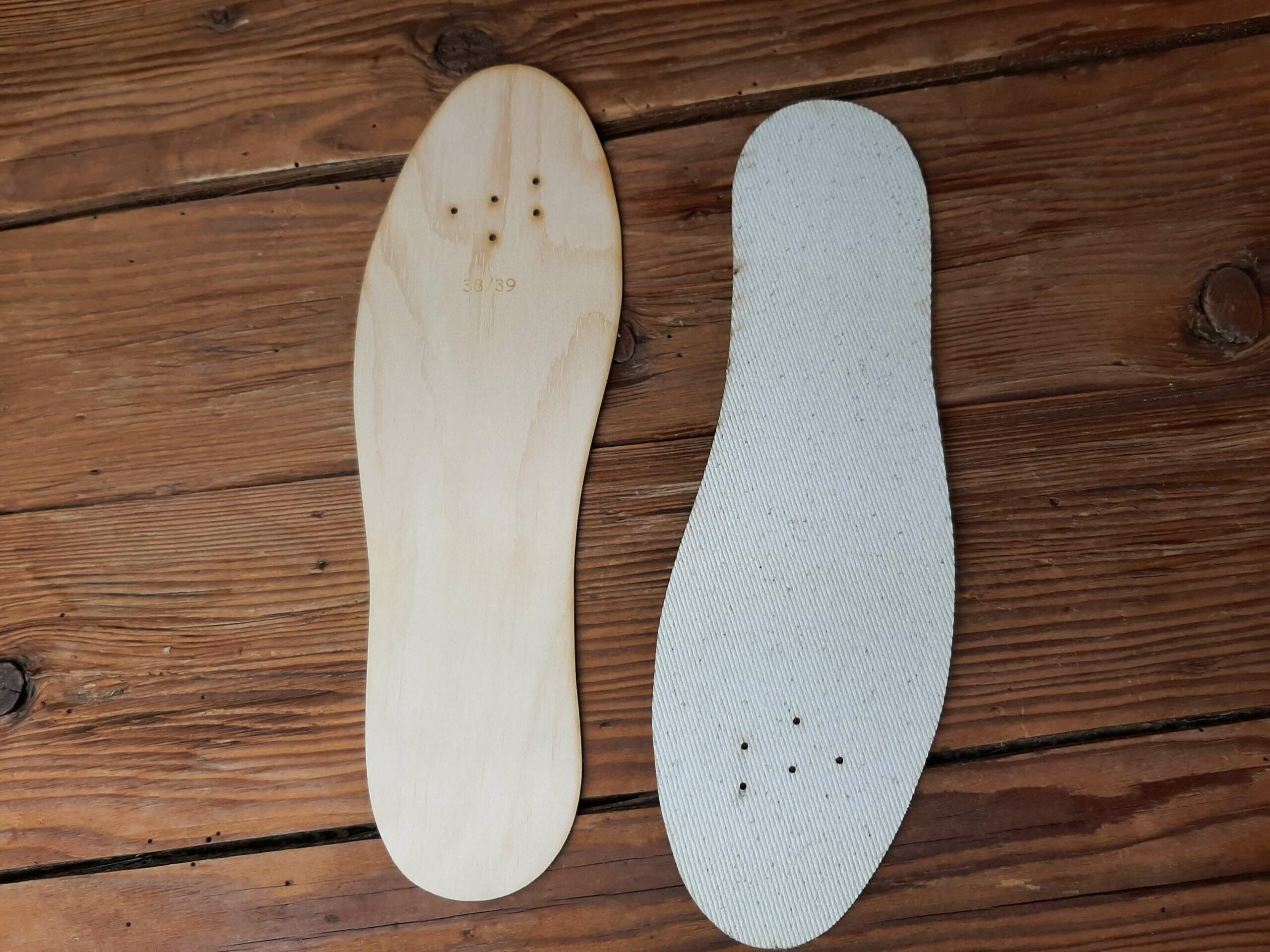 Schuheinlagen Zirbenholz